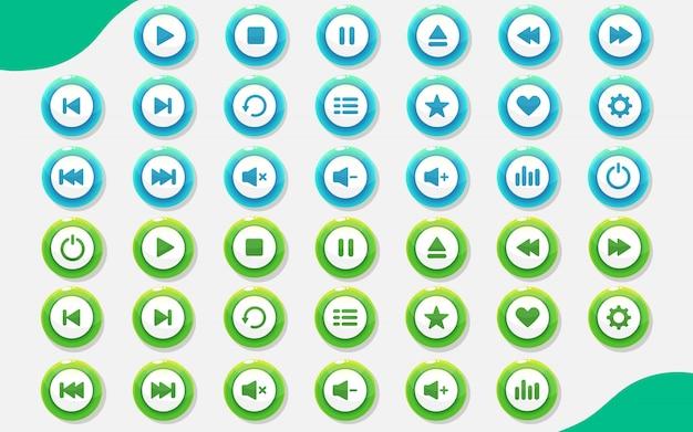 Game design button set