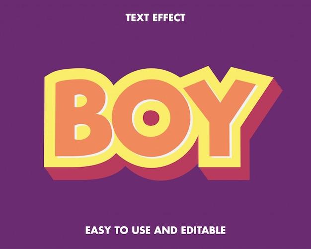 Game kid font effect klassischer texteffekt. prämie