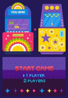 Game machine pixel-stil illustration