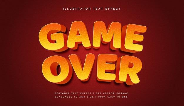 Game over text style schrift-effekt