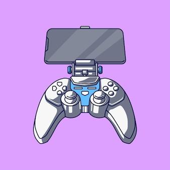 Game pad smartphone illustration