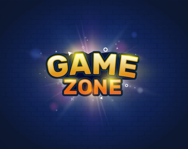 Game zone entertainment banner.