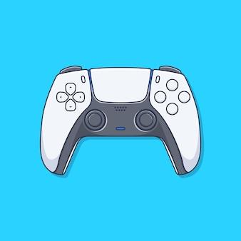 Gamepad-joystick-illustration im flachen design