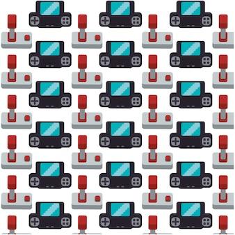 Gamepad joystick sammlung nahtlose muster design