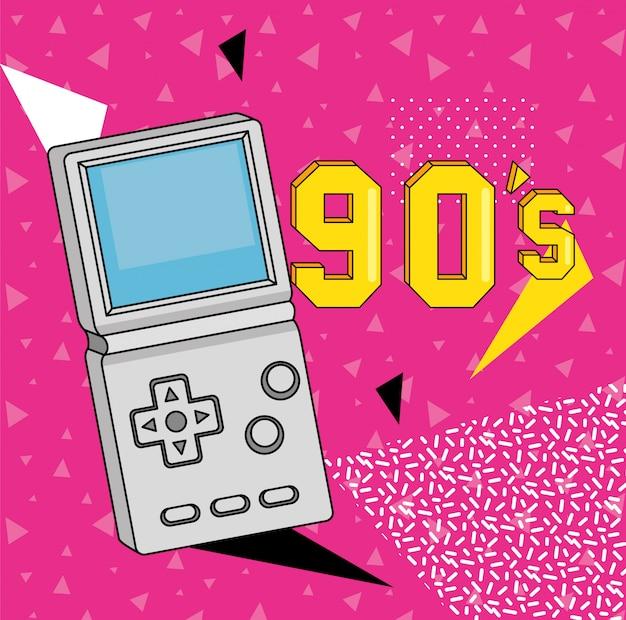 Gamepad neunziger jahre kunststil