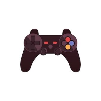Gamepad oder joystick-controller mit griffen flache abbildung isoliert