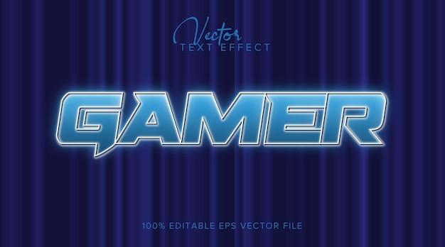 Gamer 3d bearbeitbarer textstileffekt