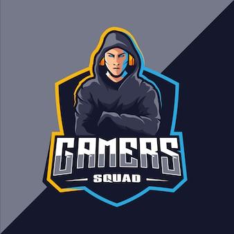 Gamer esport maskottchen logo design