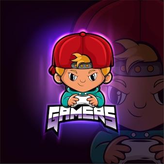 Gamer maskottchen esport logo design