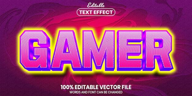 Gamer-text, bearbeitbarer texteffekt im schriftstil
