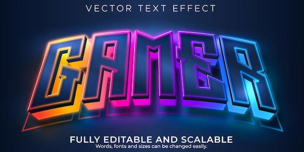 Gamer-texteffekt