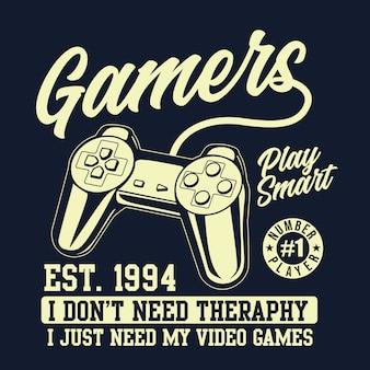 Gamers controller-grafik