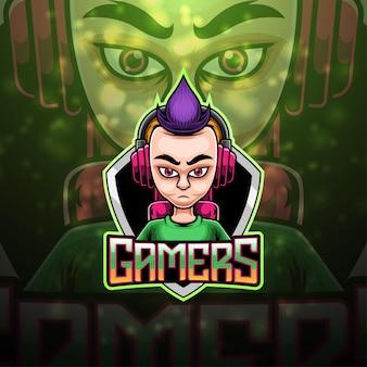 Gamers esport maskottchen logo design