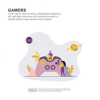 Gamers-konzept