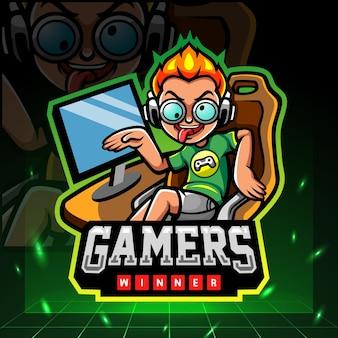 Gamers maskottchen esport logo design