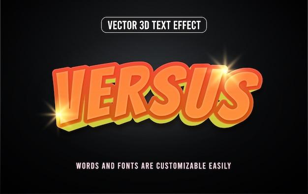 Gaming-action im vergleich zu bearbeitbarem 3d-texteffektstil