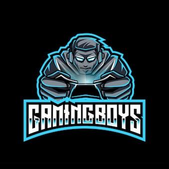 Gaming boys esport logo vorlage