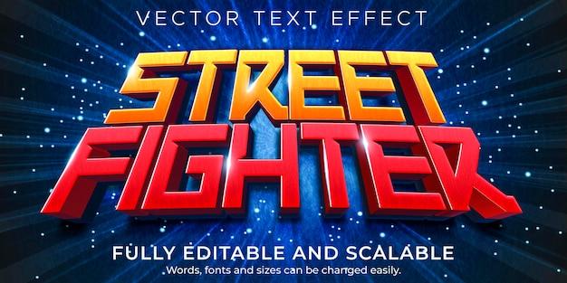 Gaming-cartoon-texteffekt; bearbeitbares spiel und lustiger textstil