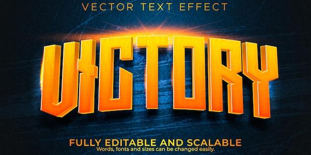 Gaming-cartoon-texteffekt; editierbares spiel und lustiger textstil