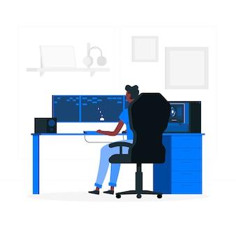 Gaming-konzept illustration