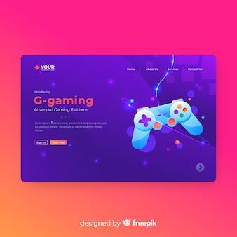 Gaming-landing-page-vorlage