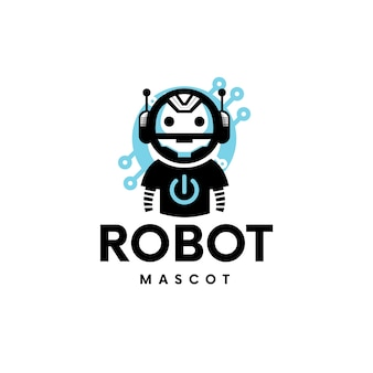Gaming robot tech logo design
