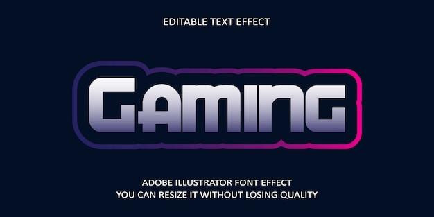 Gaming-text-font-effekt