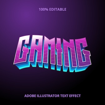 Gaming text style effekt premium