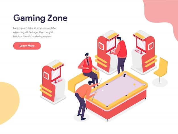 Gaming zone illustration konzept
