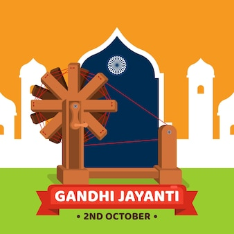 Gandhi jayanti illustration