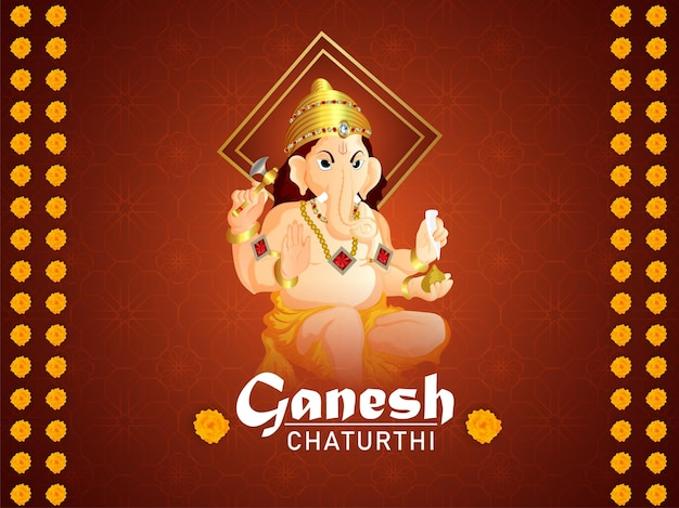 Ganesh chaturthi feier grußkarte