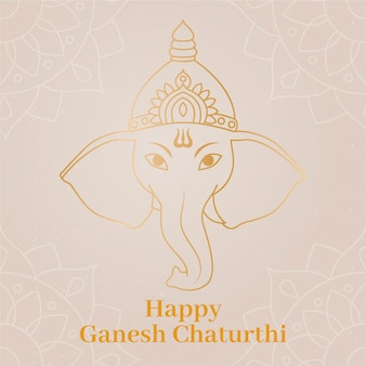 Ganesh chaturthi illustration