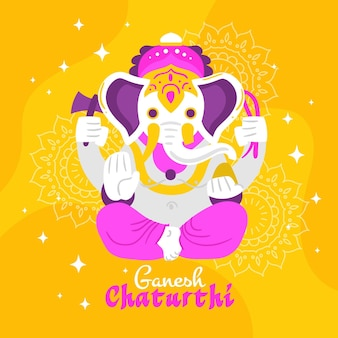 Ganesh chaturthi konzeptillustration