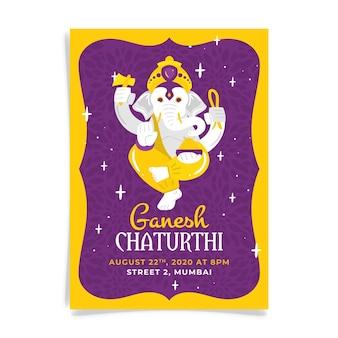Ganesh chaturthi poster vorlage