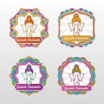 Ganesh chaturthi verkaufsabzeichen