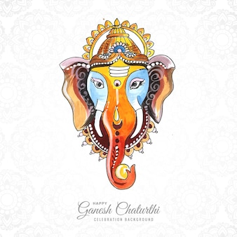 Ganesh chaturthi wünscht grußkartendesign