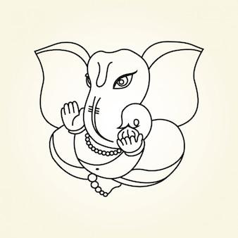 Ganesha Hindu God