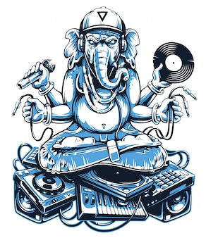Ganesha music art