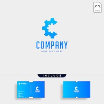 Gang c logo engineering fabrik vektor icon isoliert