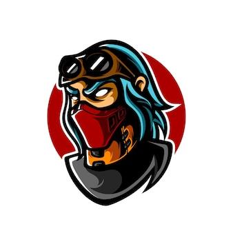 Gangster e sport maskottchen logo