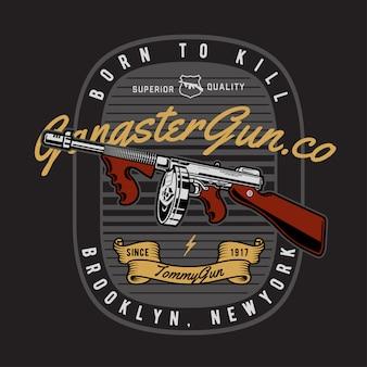 Gangster gun abzeichen