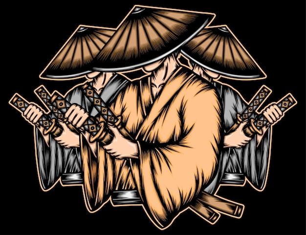 Gangster japanischer ronin.