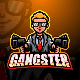 Gangster maskottchen esport illustration