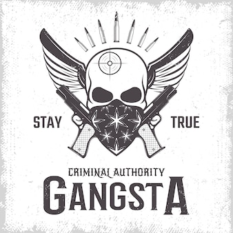 Gangster monochrom-druck