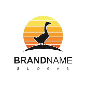 Gans logo-design-vorlage
