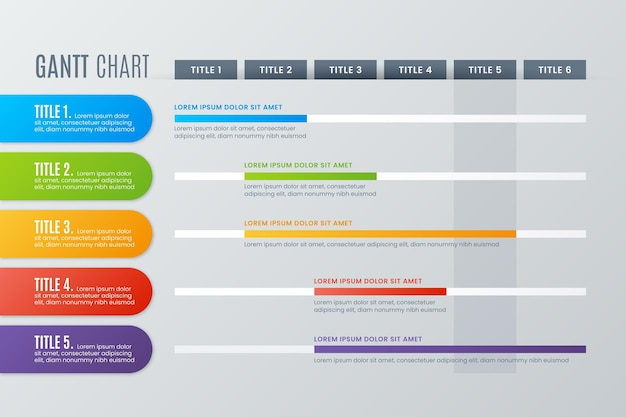 Gantt diagramm infografik