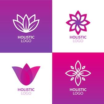 Ganzheitliche logo-sammlung mit farbverlauf