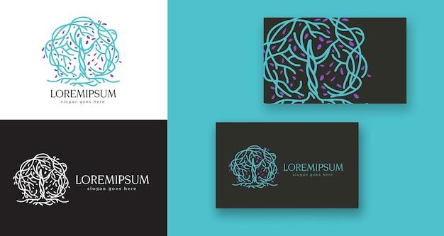 Ganzheitliche pflege medizinischer baum eiche minimales logo