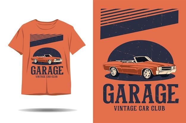 Garage oldtimer club illustration tshirt design