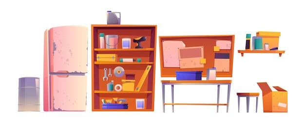 Garagenausrüstung für tischler- und reparaturarbeiten